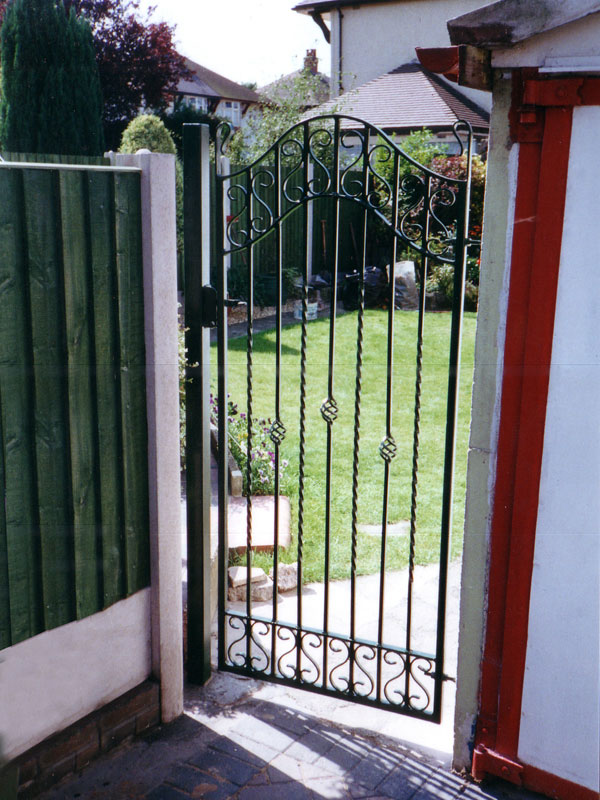 Metal garden gates home design ideas and pictures